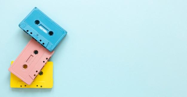 Flach gelegte kassetten mit kopierraum Kostenlose Fotos