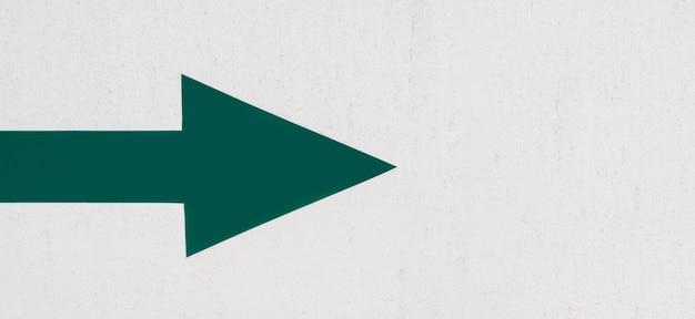 Flache lage des grünen pfeils nach rechts zeigend Kostenlose Fotos