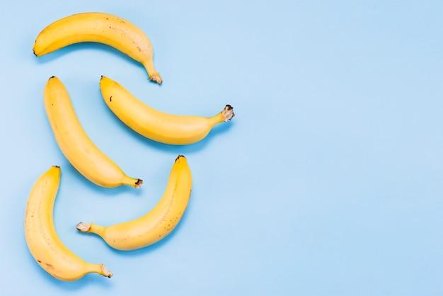 Flache lage tropischer süßer bananen Kostenlose Fotos