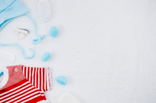 Flache laienbabykleidung mit kopienraum Kostenlose Fotos