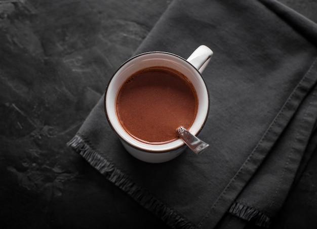 Flache tasse heiße schokolade Kostenlose Fotos