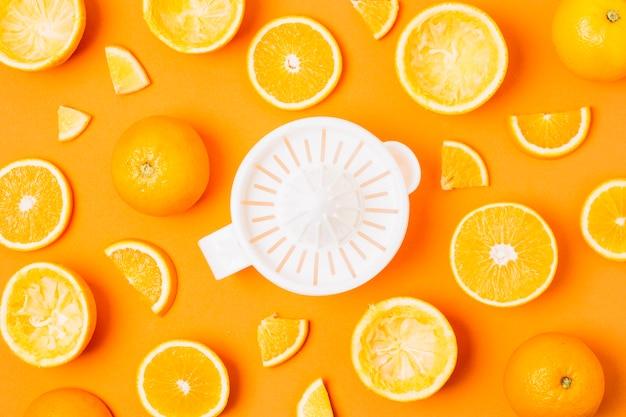 Flachentsafter mit orangen Kostenlose Fotos