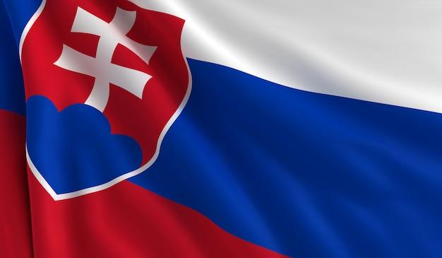 Flagge der slowakei Premium Fotos