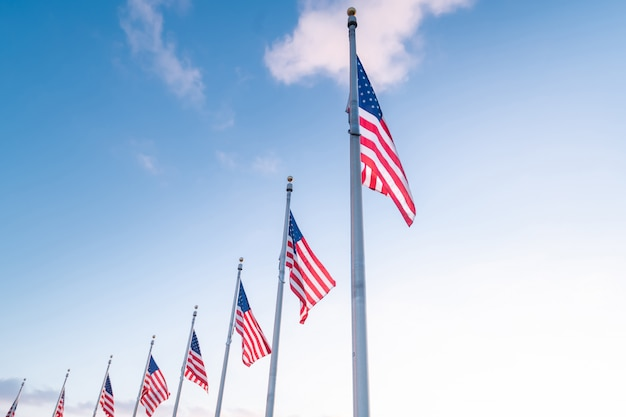 Flagge der vereinigten staaten von amerika, usa Premium Fotos