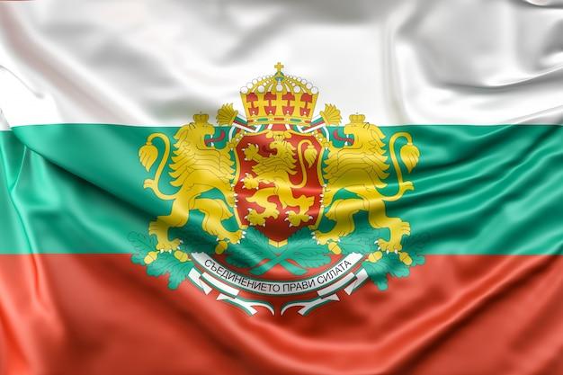 Flagge von bulgarien mit wappen Kostenlose Fotos