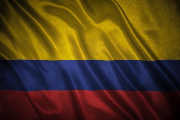 Flagge von kolumbien hintergrund Premium Fotos