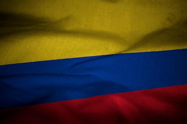 Flagge von kolumbien Premium Fotos