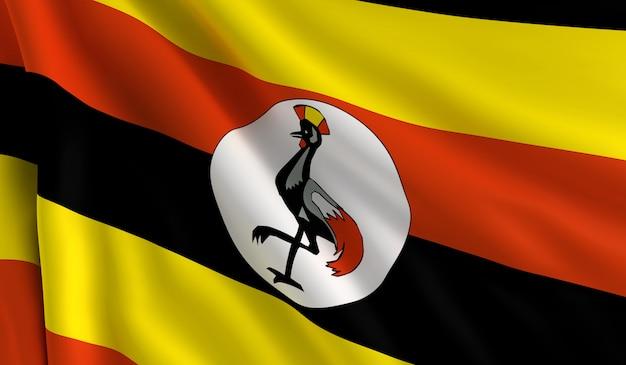 Flagge von uganda Premium Fotos