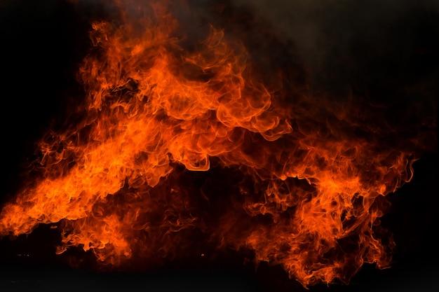 Flammenfeuerflammen-beschaffenheitshintergrund Premium Fotos