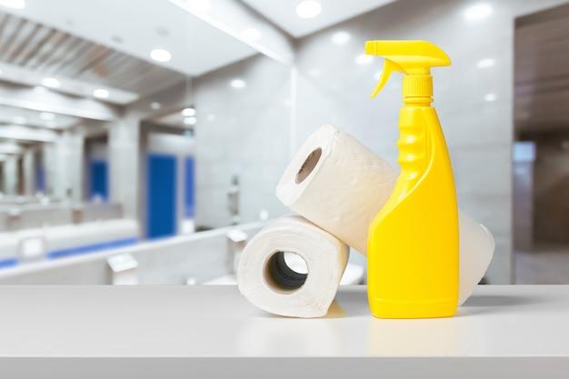Flasche waschmittel und conditioner Premium Fotos