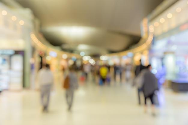 Flughafen-boarding-bereich unscharfer hintergrund Premium Fotos
