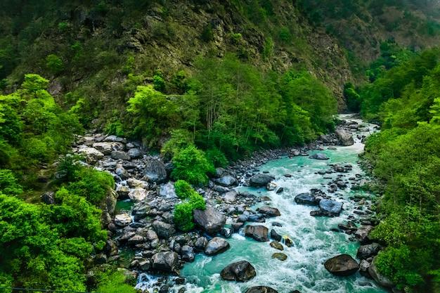Fluss von everest trek Premium Fotos