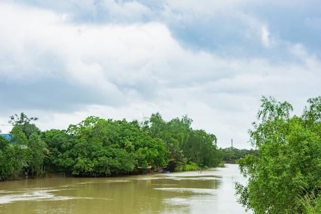 Flusslandschaft Premium Fotos