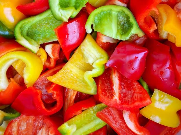 Food for design mehrfarbige paprikaschoten Premium Fotos