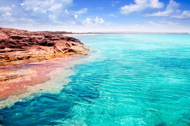 Formentera illetes insel türkis tropischen meer Premium Fotos