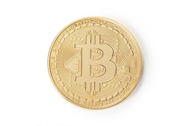 Foto goldenes bitcoin Premium Fotos