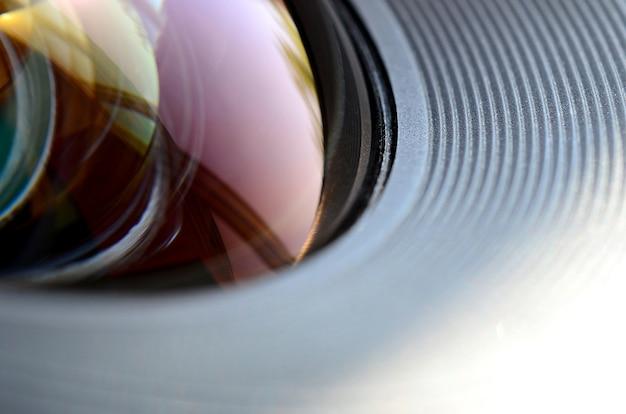 Foto-kameraobjektivabschluß oben Premium Fotos