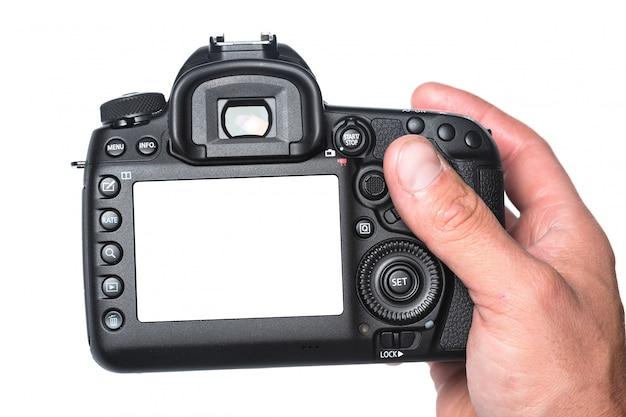 Fotokamera in der hand Premium Fotos