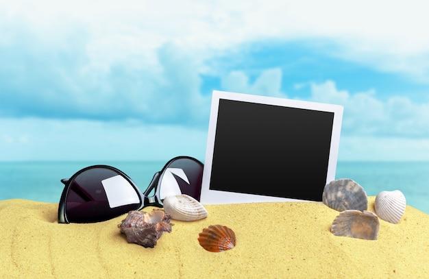 Fotos auf sandhintergrund Premium Fotos