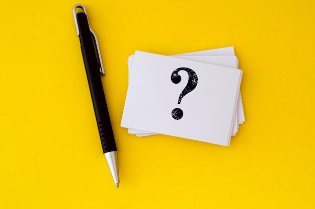 Fragen und antworten oder q & a-konzept-design Premium Fotos