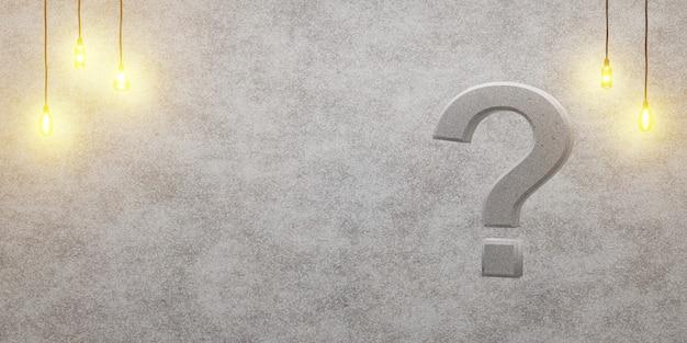 Fragezeichen auf einem dachbodenhintergrund Premium Fotos