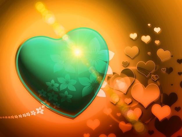 Fraktale Spielerische Liebe Romantische Herzen Fraktals