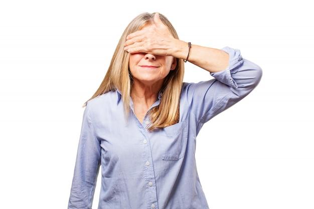 Frau vor den augen Kostenlose Fotos