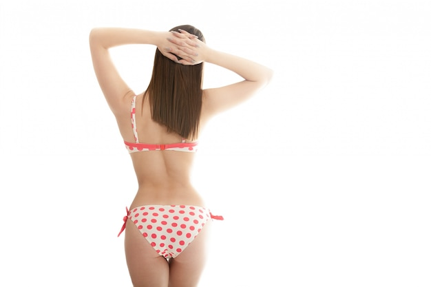 Frau zurück in bikini Kostenlose Fotos