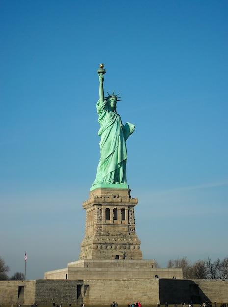 Freiheitsstatue in new york city Premium Fotos