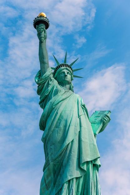 Freiheitsstatue new york amerikanisches symbol usa Premium Fotos