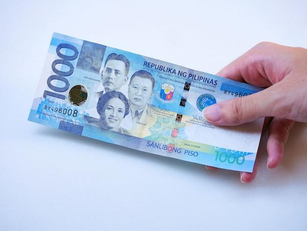 Fremdwährung der philippinen Premium Fotos