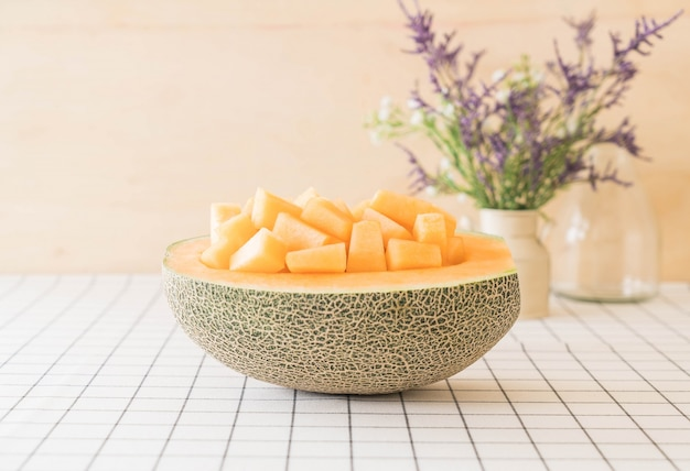 Frische cantaloupe melone Kostenlose Fotos
