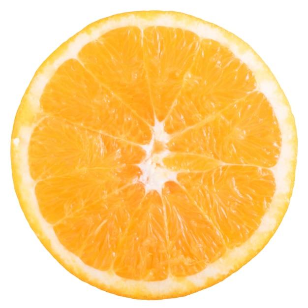 Frische orangenscheibe isoliert Kostenlose Fotos