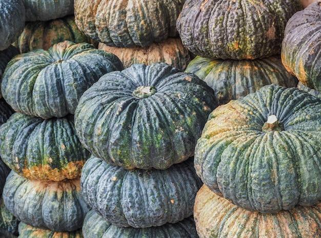 Frischer organischer kürbis vom lokalen landwirtmarkt Premium Fotos