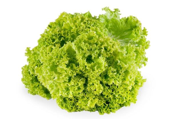 Frischer salat isoliert. nahaufnahme von bio-gemüselebensmittel, diätkonzept Premium Fotos