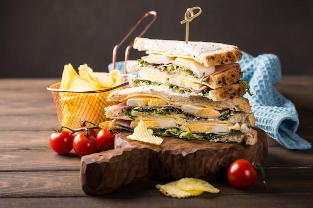 Frisches club sandwich Premium Fotos