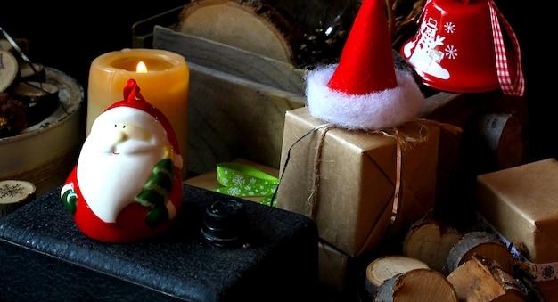 Frohe magie frohe weihnachten santa hut Premium Fotos