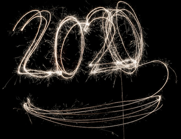 Frohes neues jahr 2020 funkelt Premium Fotos