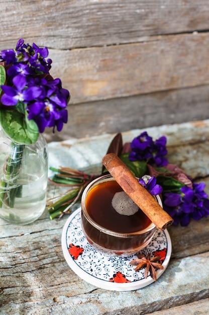 Frühlingszeit kaffee Premium Fotos