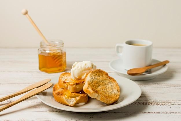 Frühstück mit honig Kostenlose Fotos