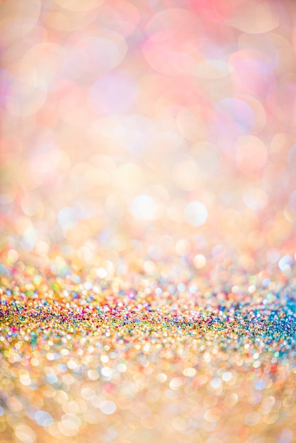 Funkelngoldbokeh bunter unscharfer abstrakter hintergrund für jahrestag Premium Fotos