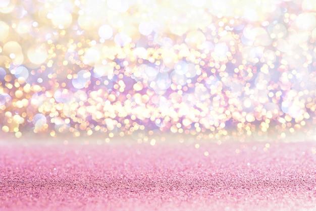 Funkelnrosa weinlese beleuchtet beschaffenheit bokeh hintergrund. defokussiert Premium Fotos