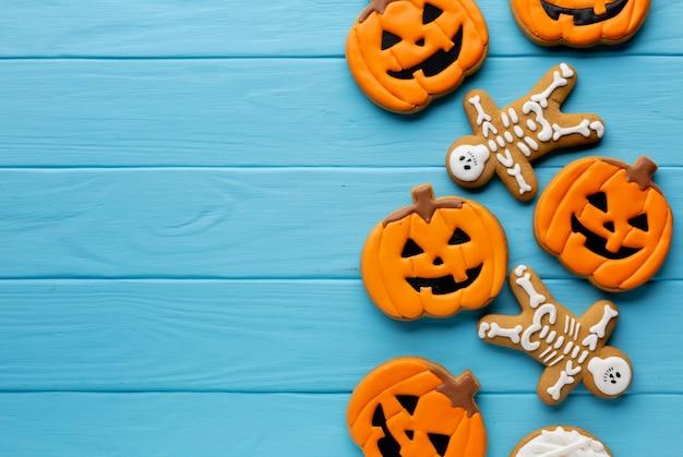 Furchtsame halloween-kürbisplätzchen Kostenlose Fotos