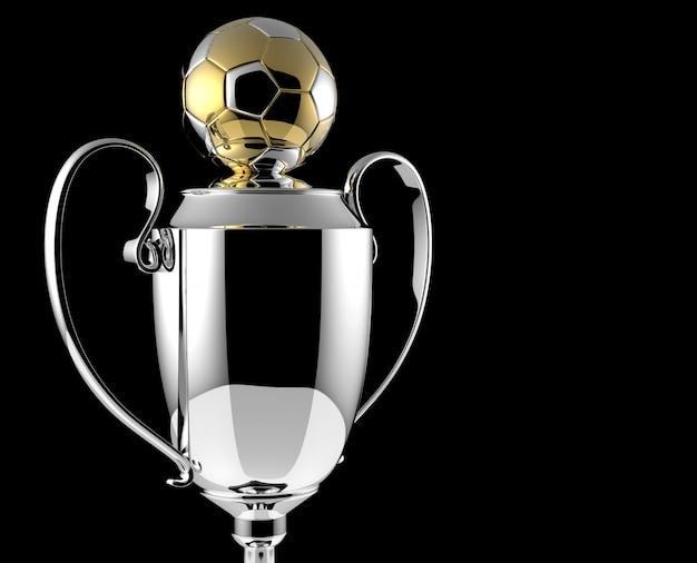 Fußball golden award trophy auf schwarz Premium Fotos