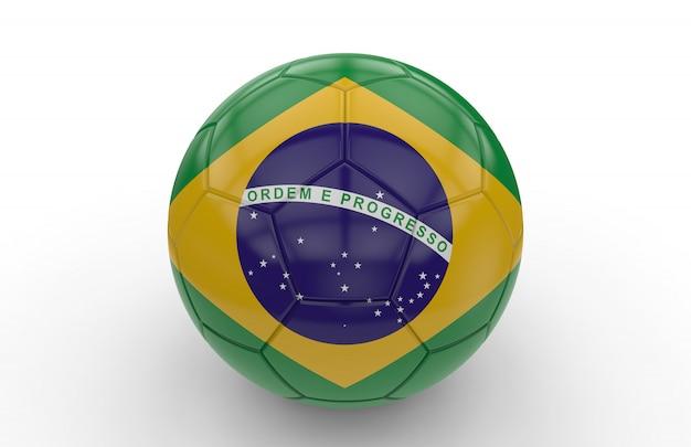 Fußball mit brasilianischer flagge Premium Fotos
