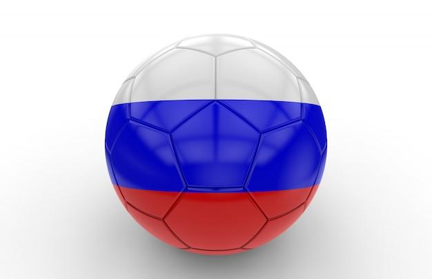 Fußball mit russischer flagge Premium Fotos