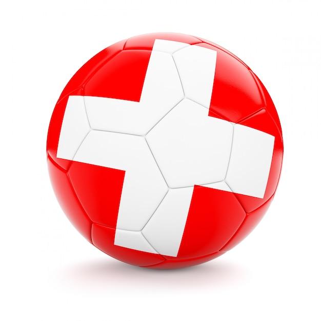 Fußball mit schweizer flagge Premium Fotos
