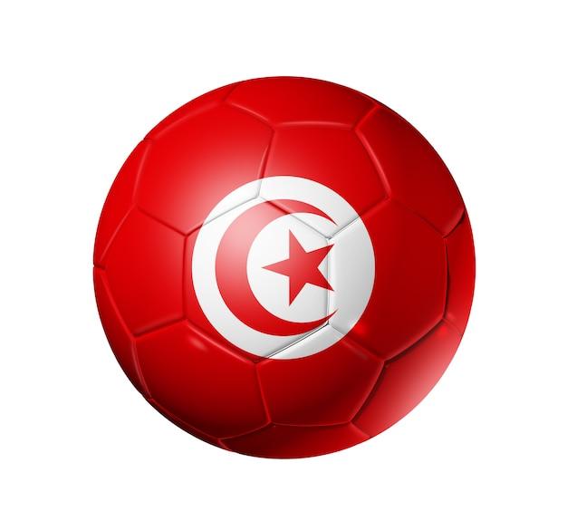 Fußballfußball mit tunesien-flagge Premium Fotos