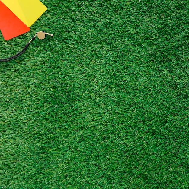 Fußballhintergrund mit karten und copyspace Kostenlose Fotos