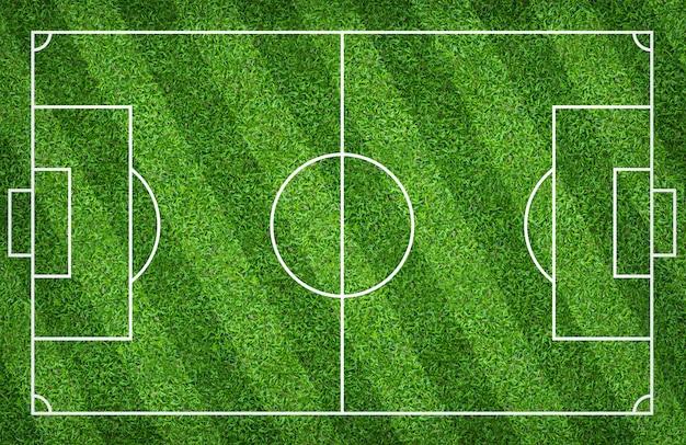 Fußballplatz oder fußballplatz für hintergrund. mit grünem platzmuster. Premium Fotos